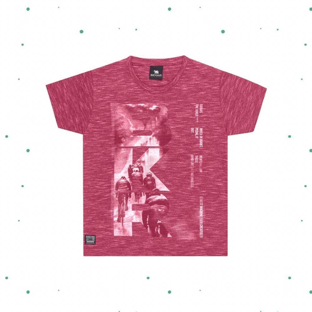 Camiseta Menino Tholokko em Algodão cor Vinho