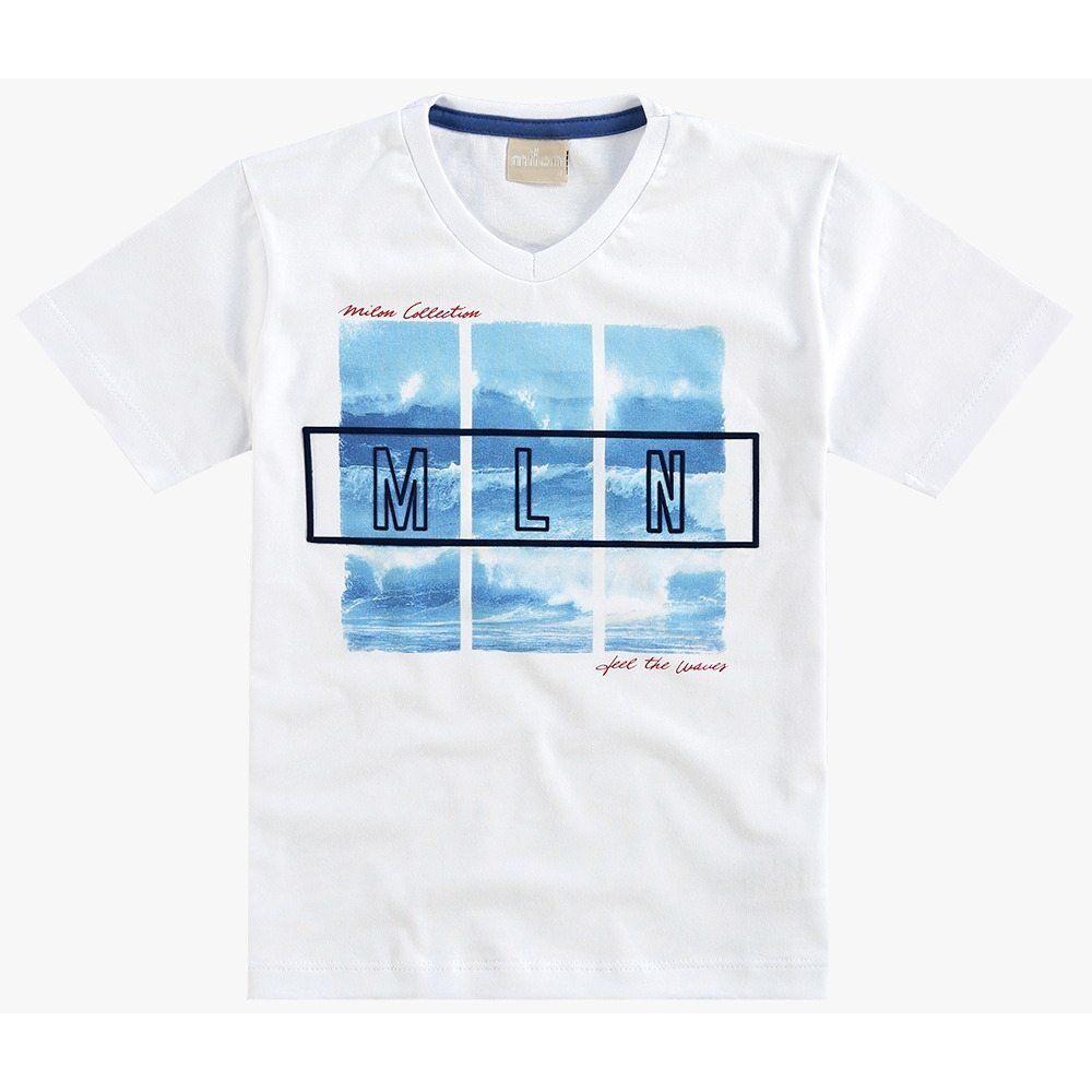 Camiseta Milon Manga Curta 100% algodão