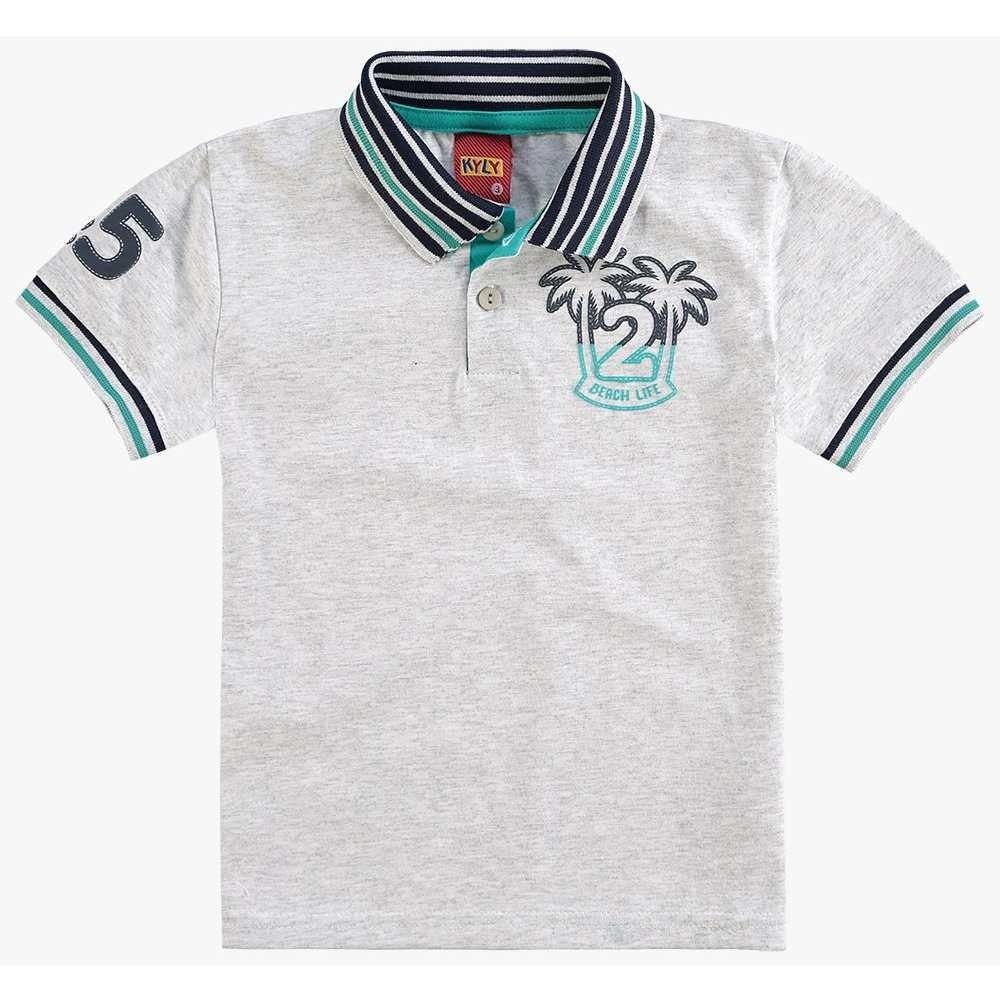 Camiseta Polo Kyly Manga Curta na cor Mescla White