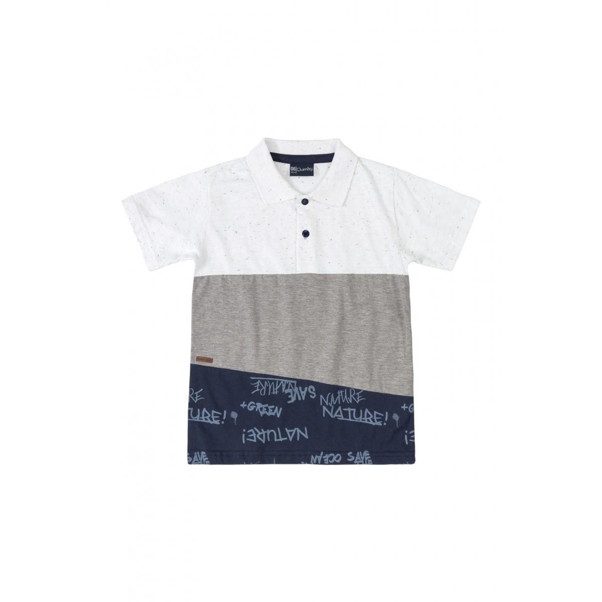 Camiseta Polo Menino Quimby em Algodão