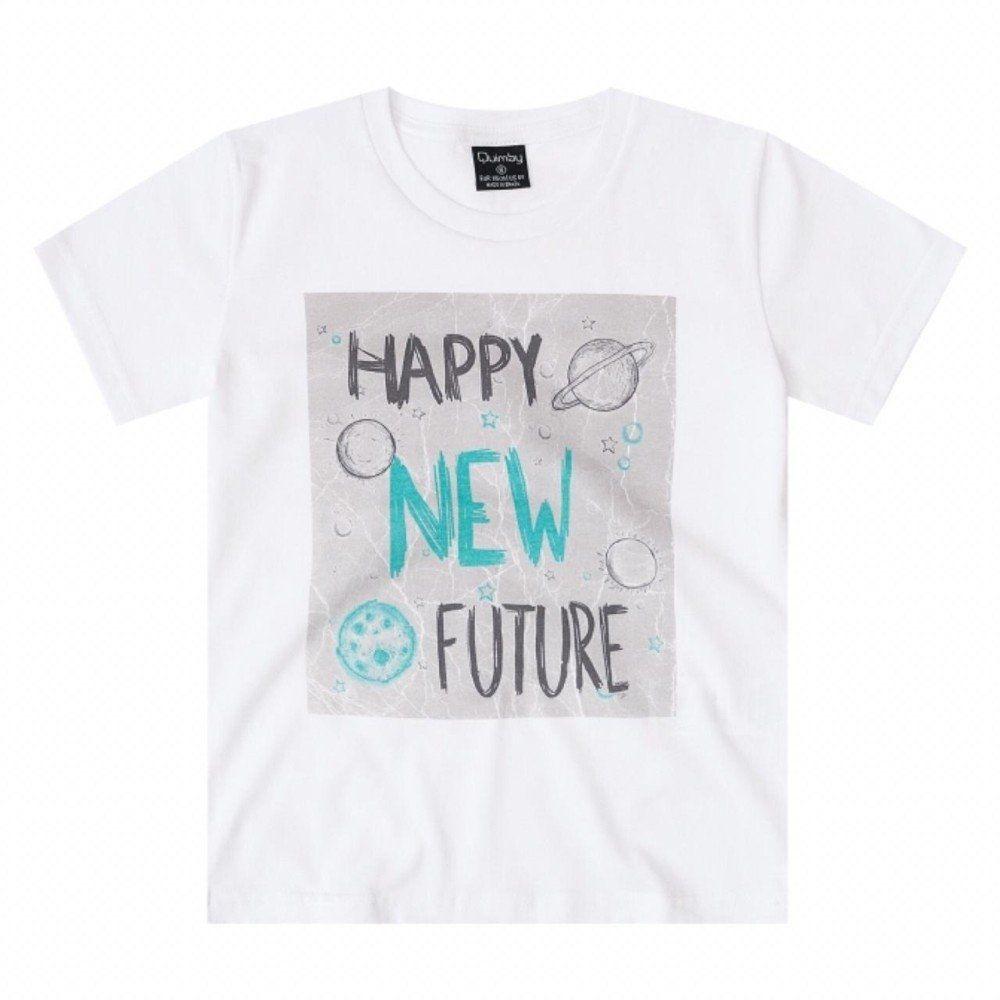 Camiseta Quimby 100% algodão com estampa na cor Branca
