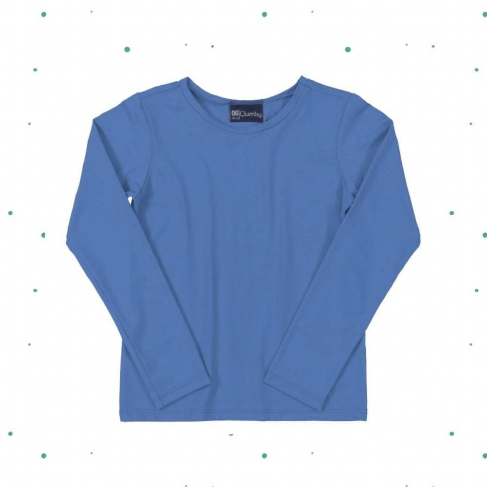 Camiseta Quimby em Malha com Proteção UV Azul