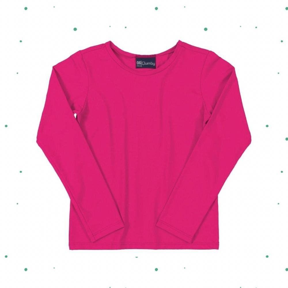 Camiseta Quimby em Malha com Proteção UV Pink