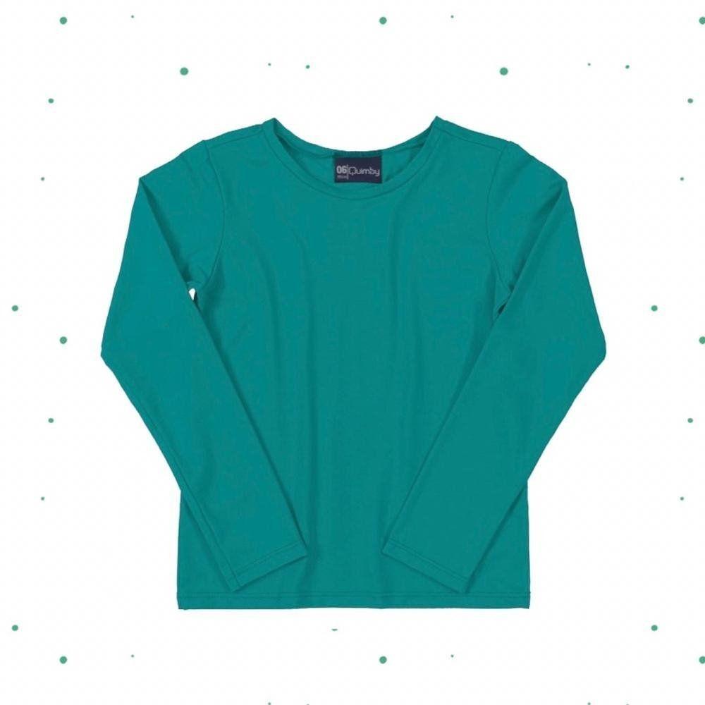 Camiseta Quimby em Malha com Proteção UV Verde
