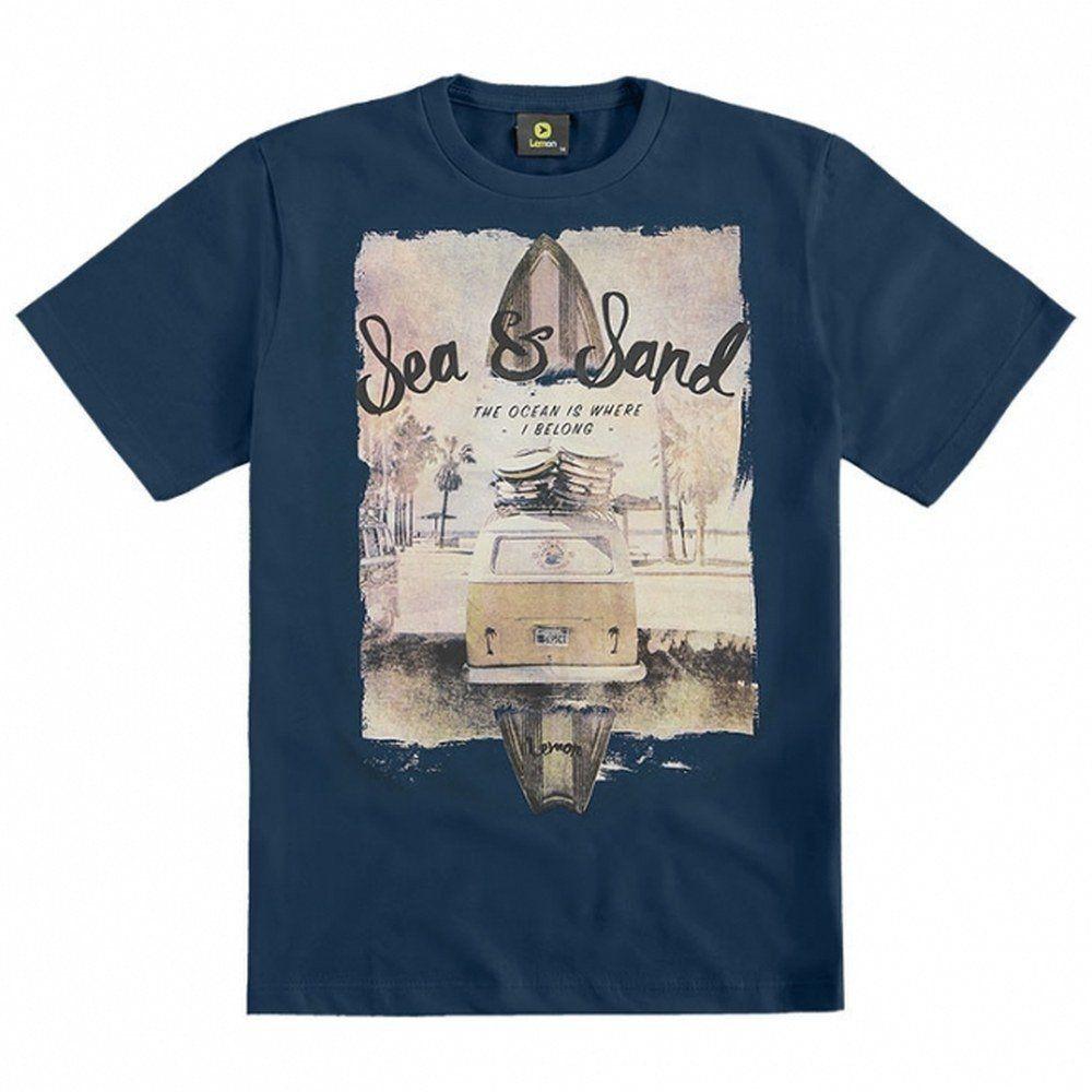 Camiseta Teen Lemon 100% algodão Azul Marinho