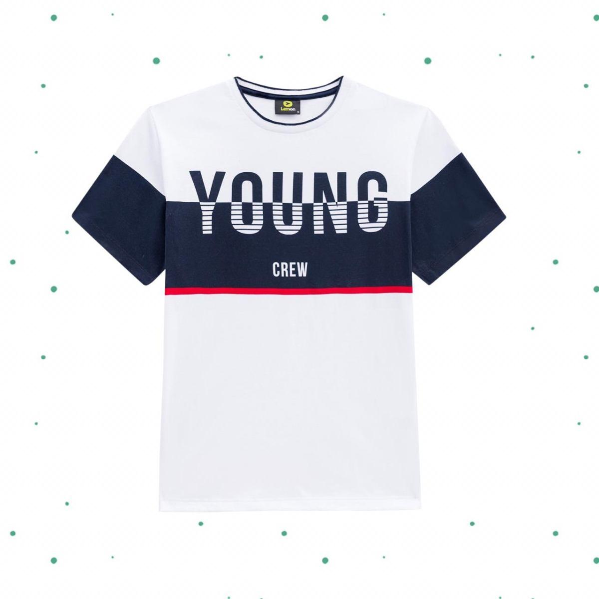 Camiseta Teen Lemon em Algodão Estampada