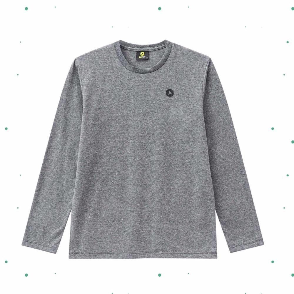 Camiseta Teen Lemon emMeia Malha na Cor Mescla