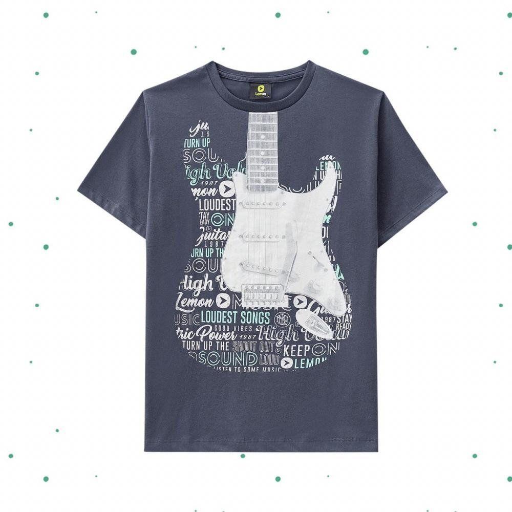 Camiseta Teen Masculina Lemon Estampada em Algodão