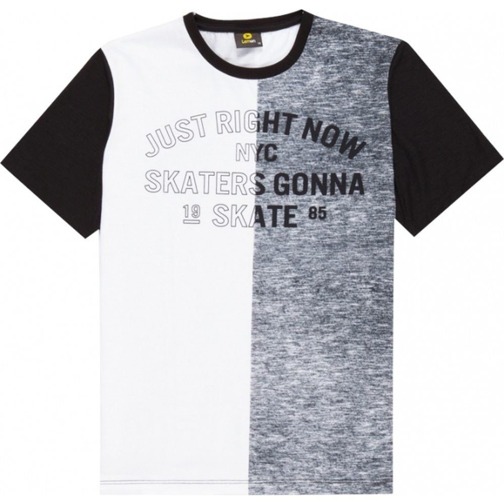 Camiseta Teen Masculina Lemon Meia Malha e Flamê