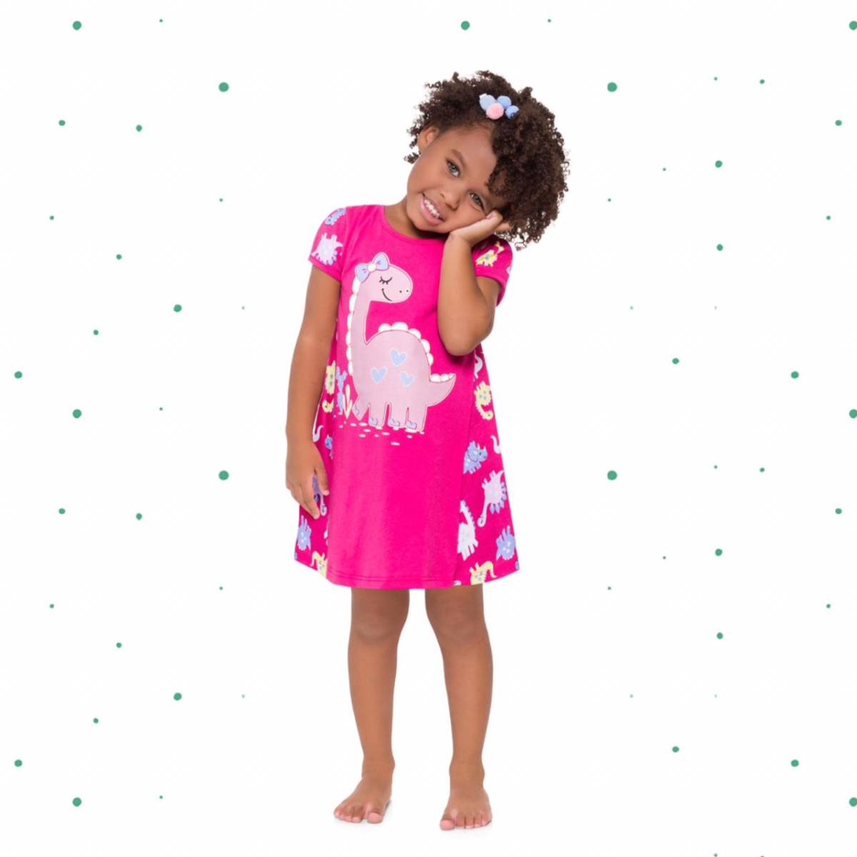 Camisola Infantil Kyly em 100% Algodão Brilha no Escuro