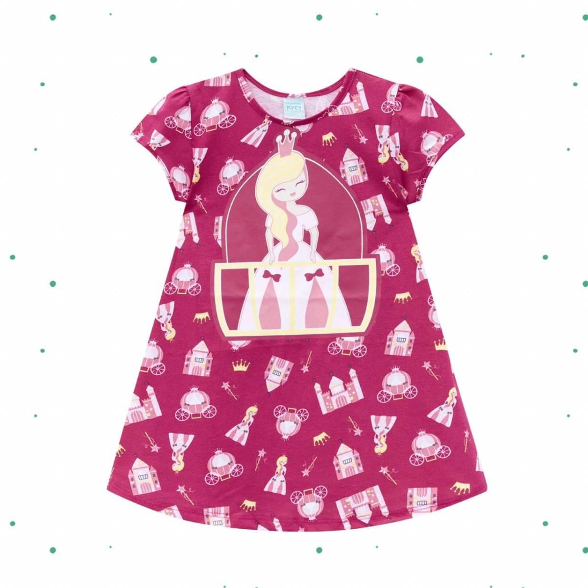 Camisola Infantil Kyly em Algodão Brilha no Escuro cor Pink
