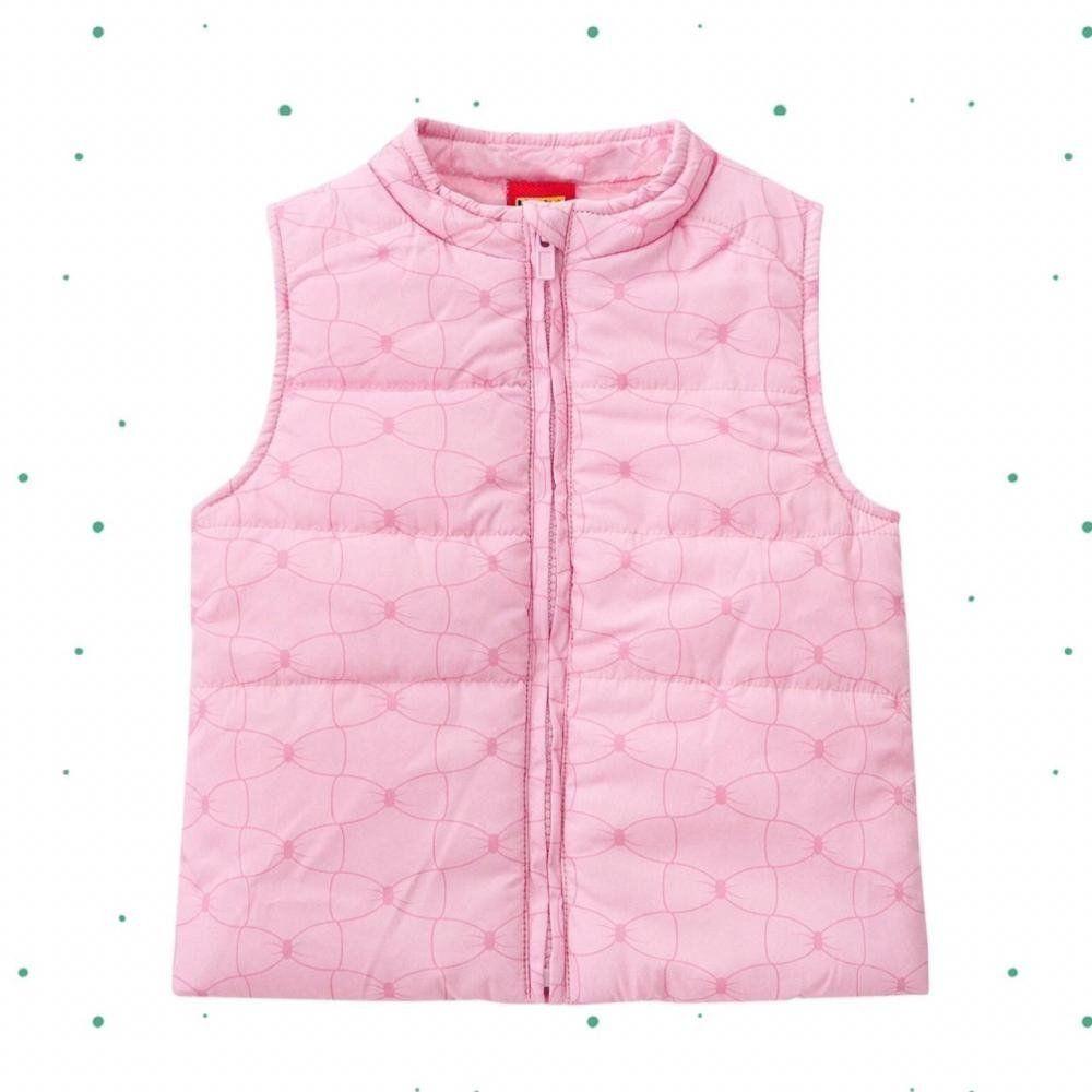 Colete Infantil Feminino Kyly Microfibra com Enchimento com Estampa de Laços