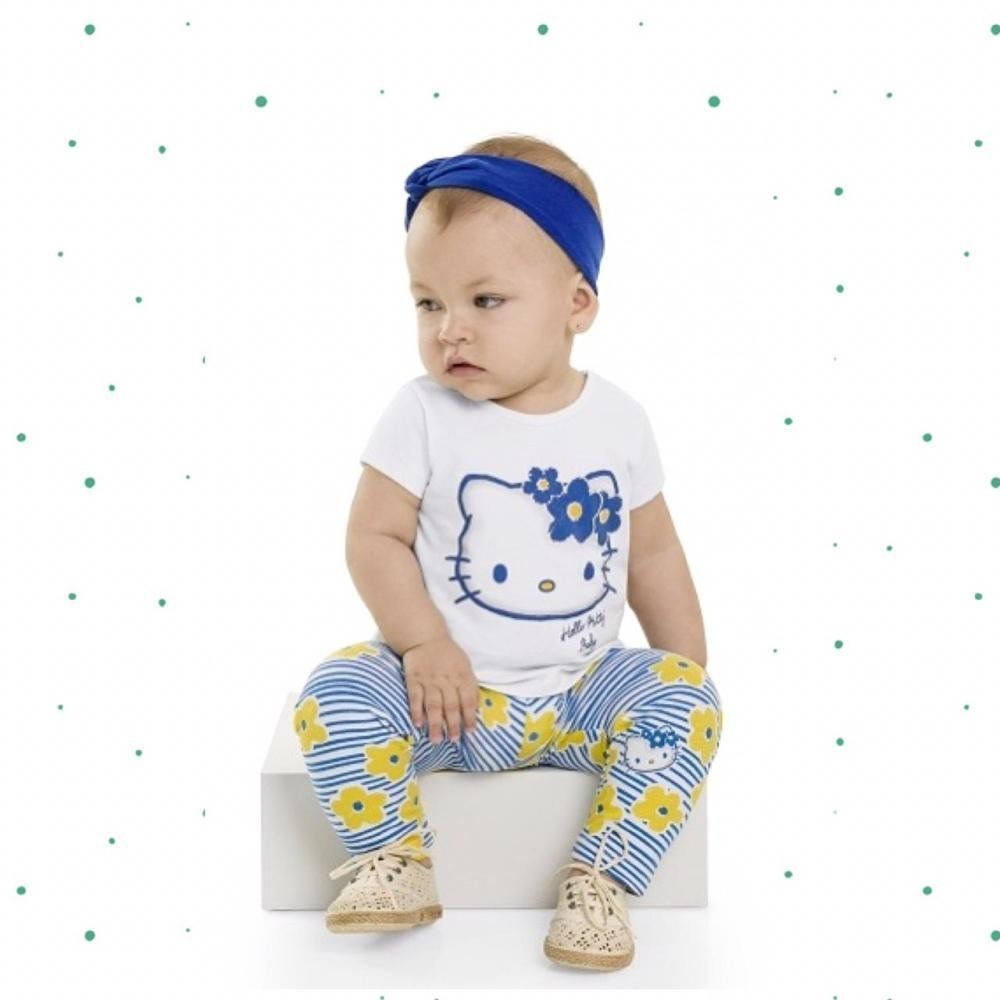 Conjunto Bebê Menina Hello Kitty Blusinha e Legging em Cotton