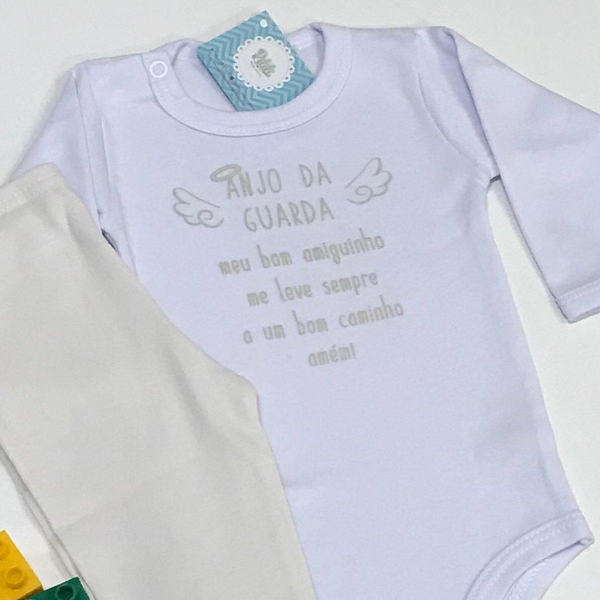 Conjunto Bebê Odicon Body ML em Suedine Estampado