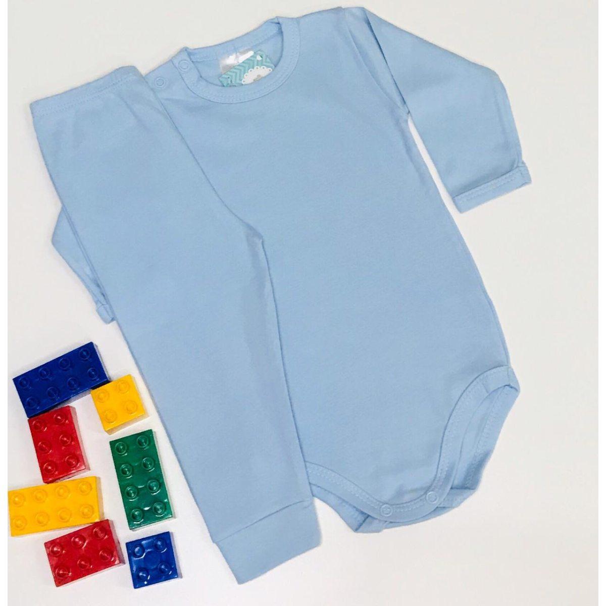 Conjunto Bebê Odicon Body ML Suedine Azul