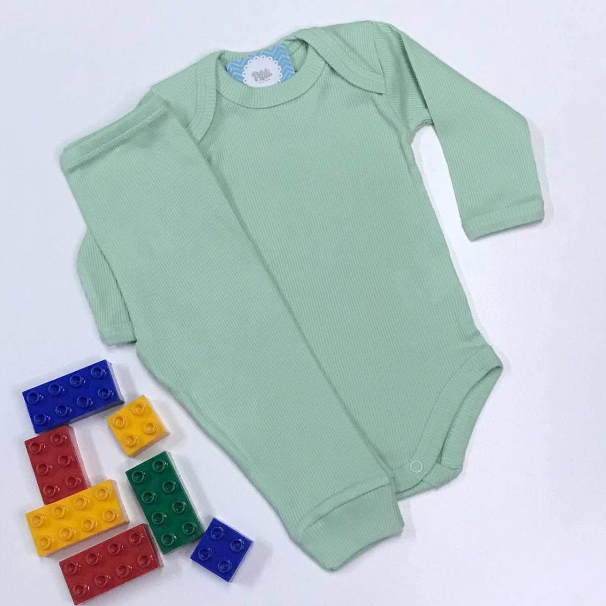 Conjunto Bebê Odicon ML em Ribana Verde