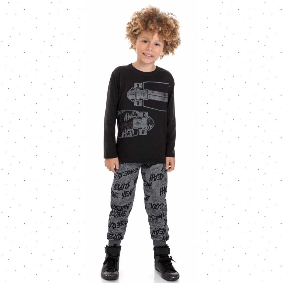Conjunto Infantil Menino Camiseta e Calça -Bee Loop