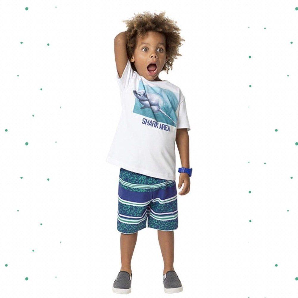 Conjunto Kyly Camiseta 100% Algodão e Bermuda
