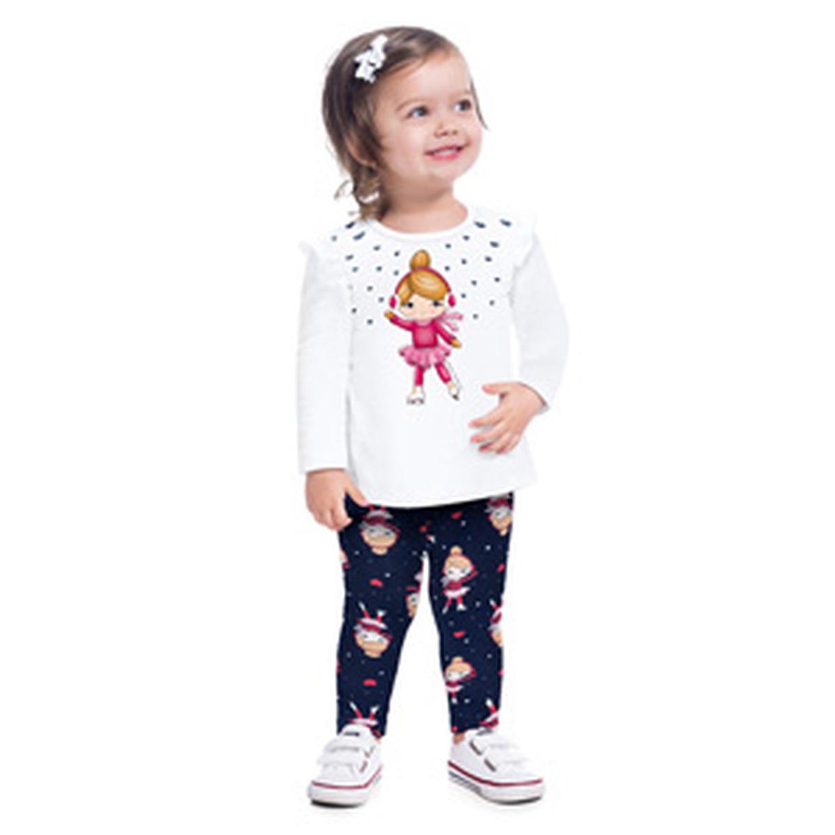 Conjunto Menina Kyly Blusa e Legging em Cotton