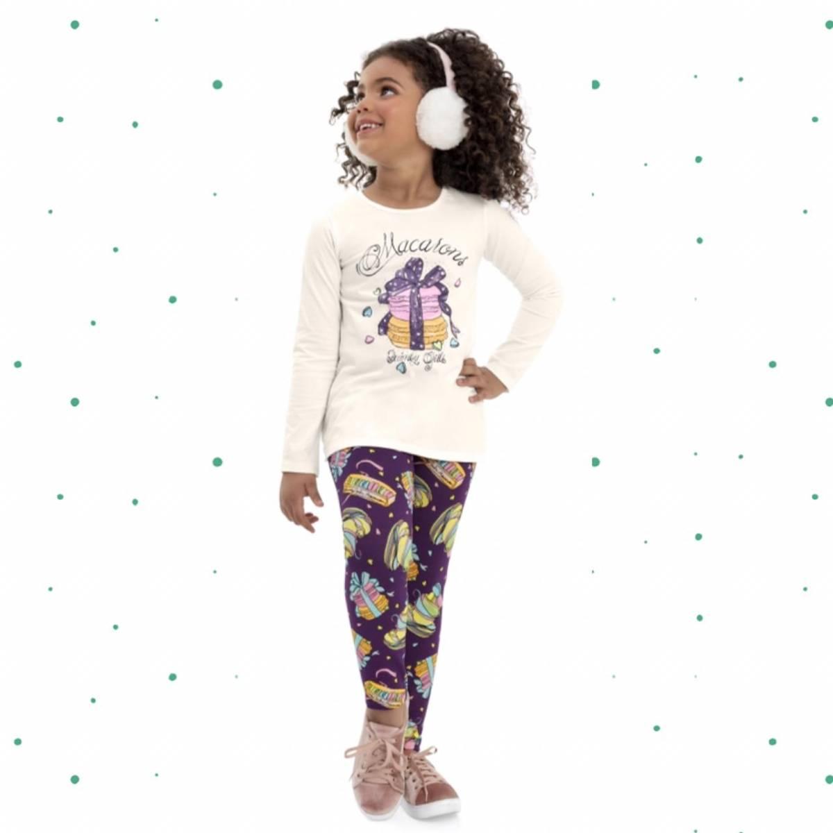 Conjunto Menina Quimby Blusa e Legging em Cotton