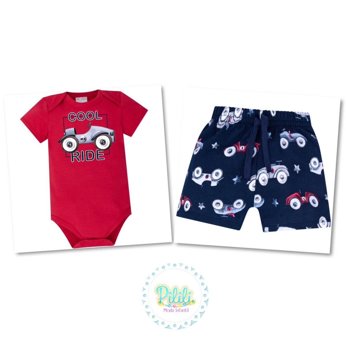 Conjunto Menino Bebê Milon Body e Bermuda