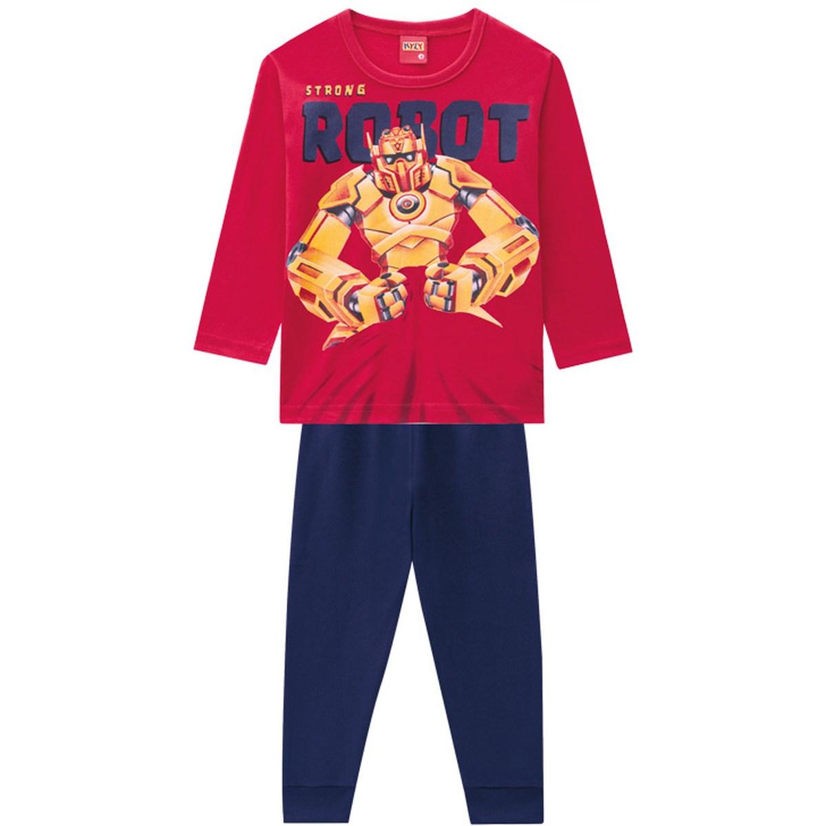 Conjunto Menino Kyly Camiseta Algodão Calça Moletom Leve