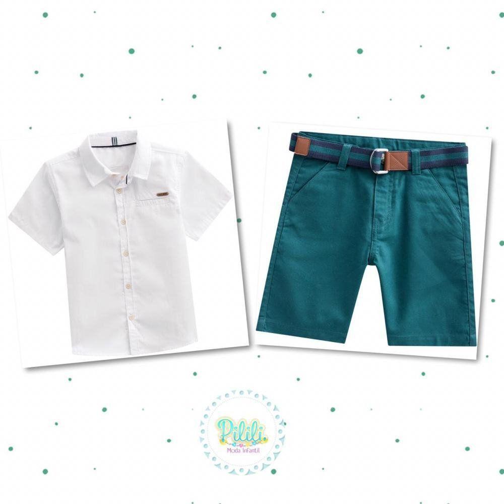 Conjunto Menino Milon Camisa e Bermuda