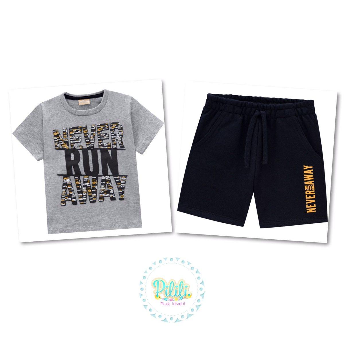 Conjunto Menino Milon Camiseta e Bermuda
