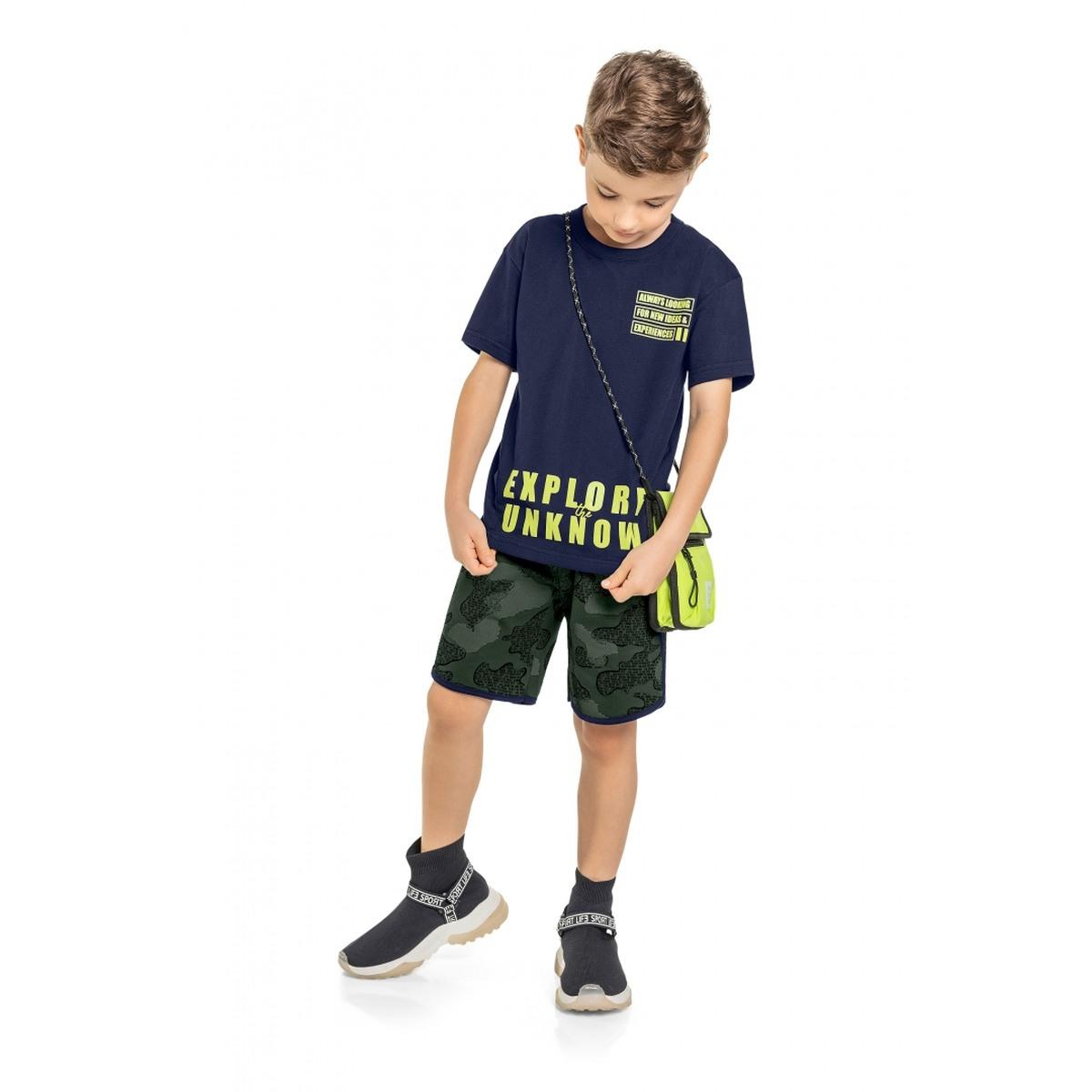 Conjunto menino Quimby Camiseta e Bermuda