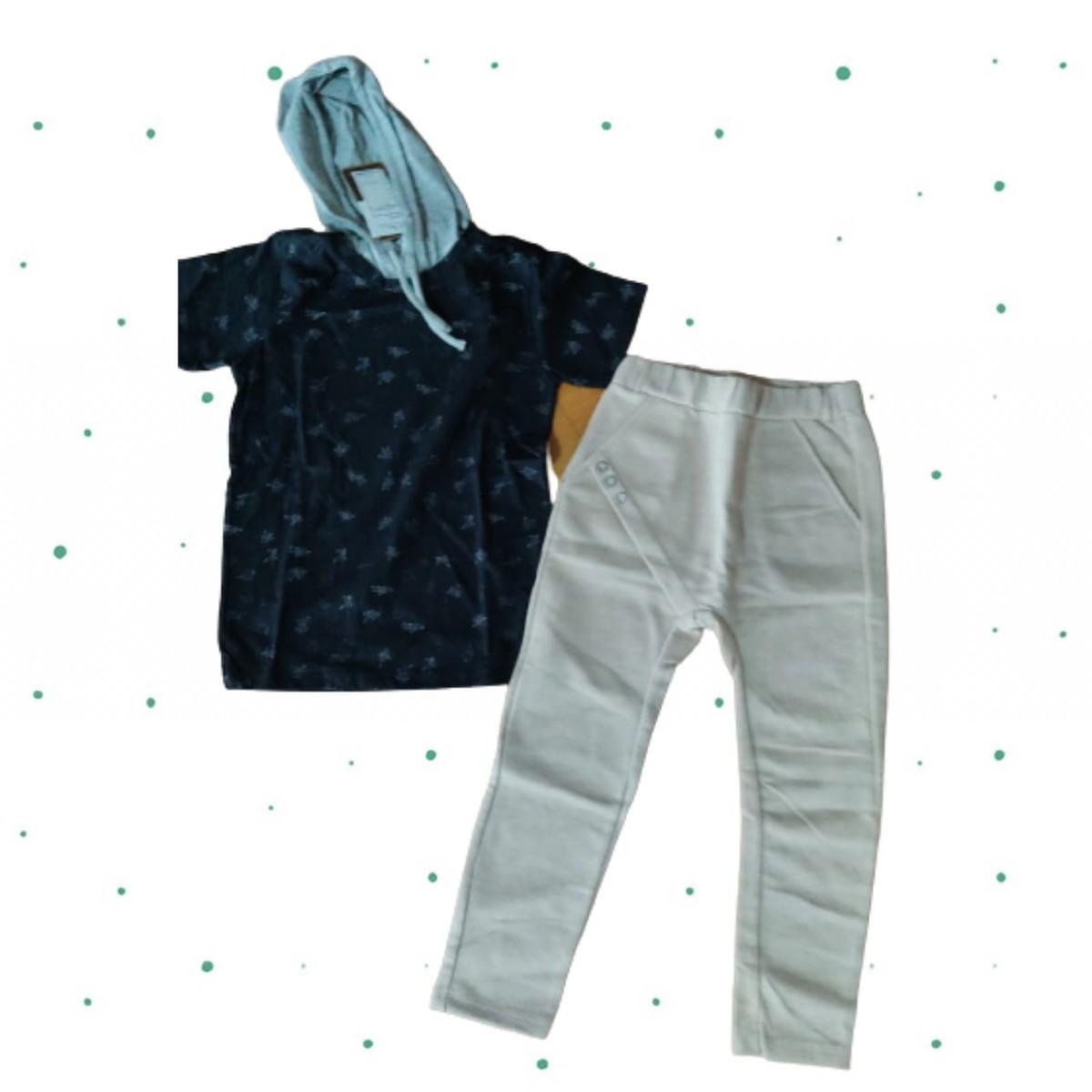 Conjunto Menino Up Baby Camiseta Algodão Bermuda Moletom