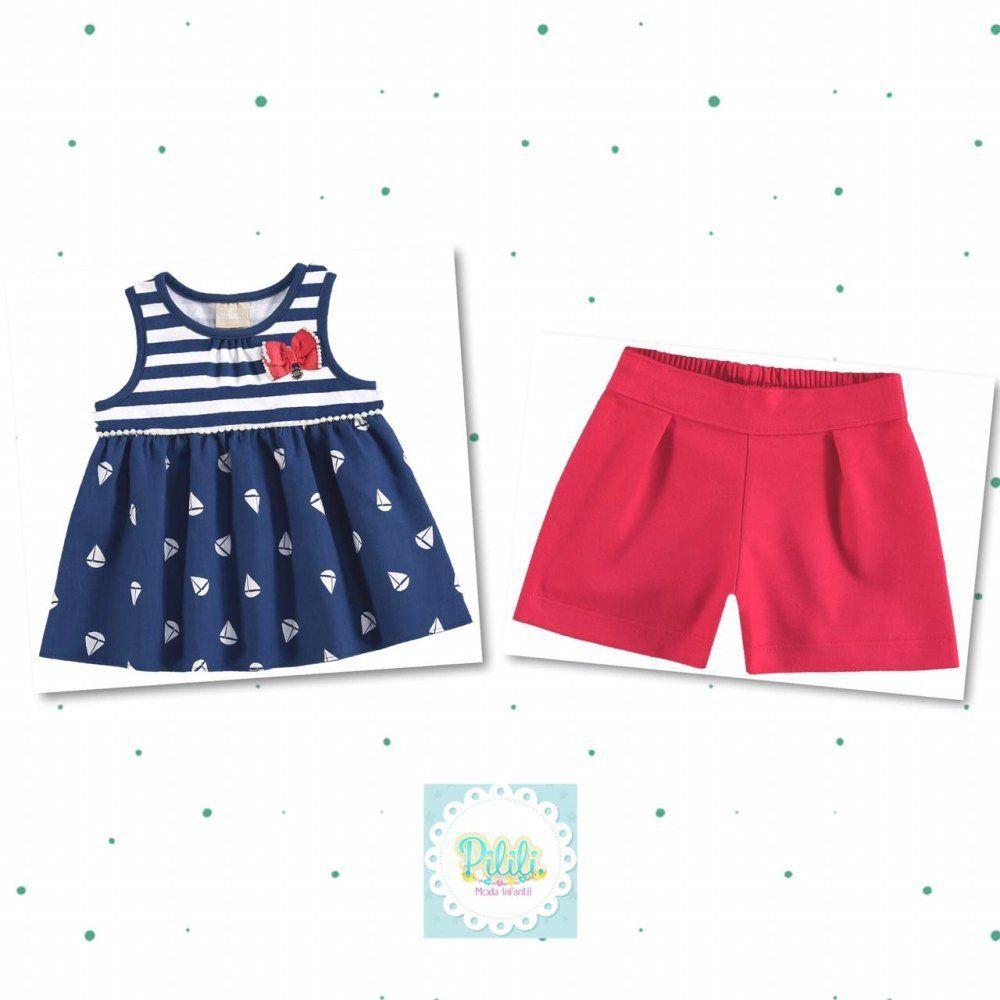 Conjunto Milon Blusa em Cotton e Shorts em Molicotton Sarjado