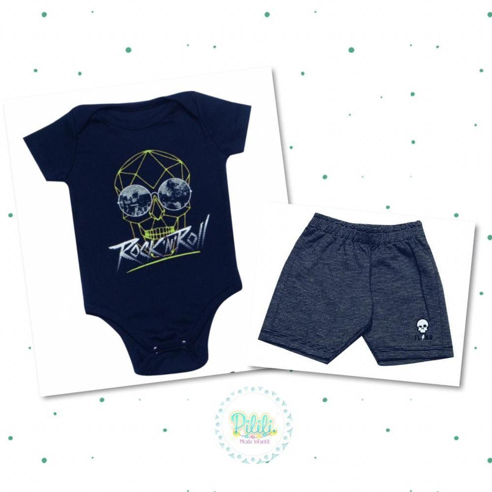 Conjunto Tholokko Body e Shorts Marinho