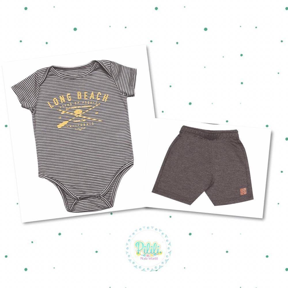 Conjunto Tholokko Body e Shorts Preto