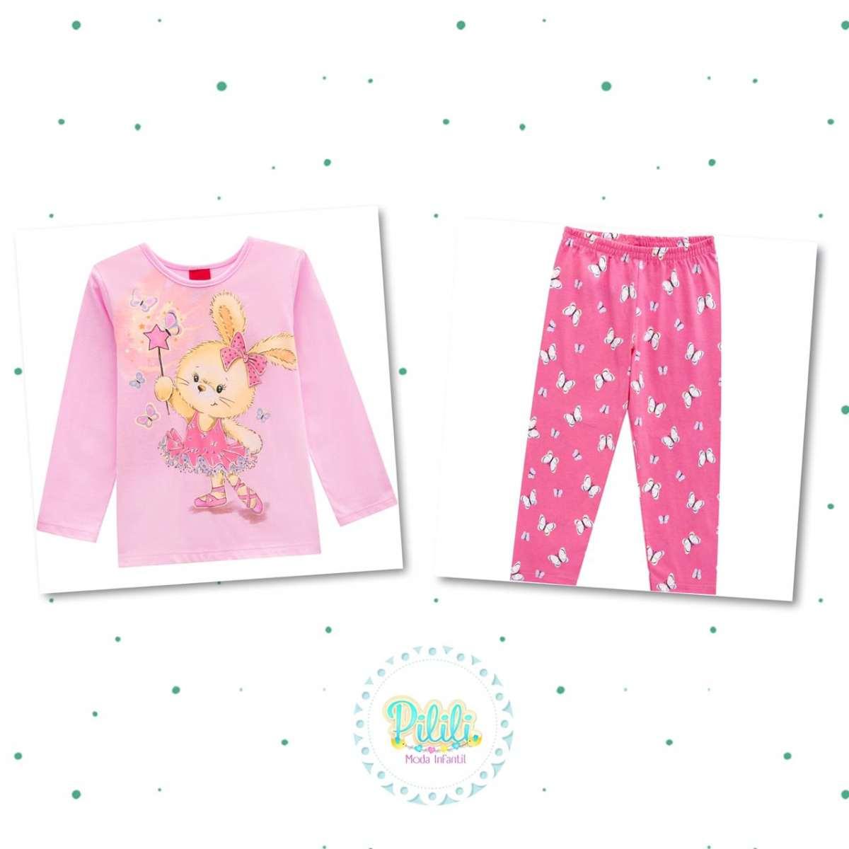 Pijama Menina Kyly em 100% Algodão Brilha no Escuro