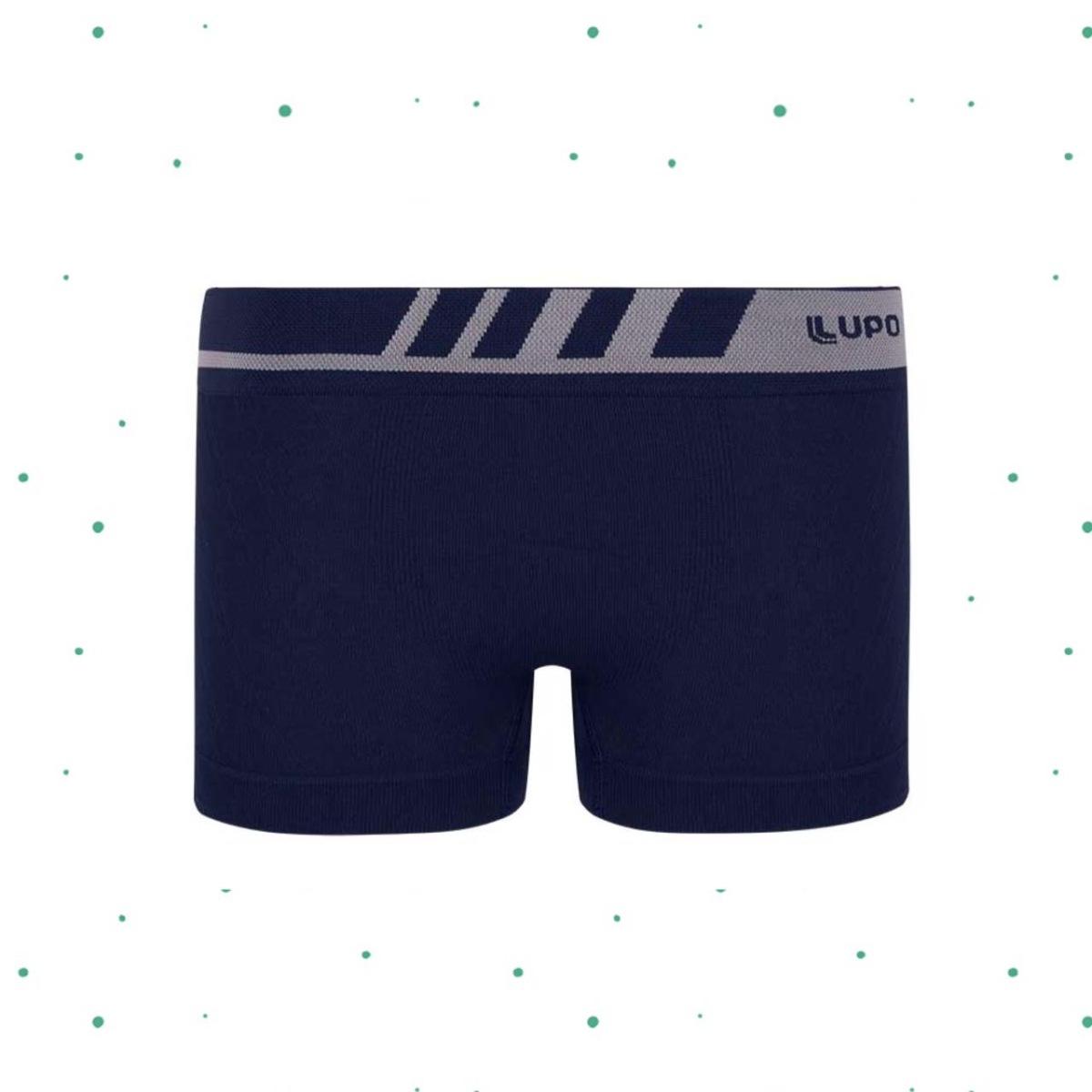 Cueca Kids Lupo Boxer 100% Microfibra sem costura Marinho