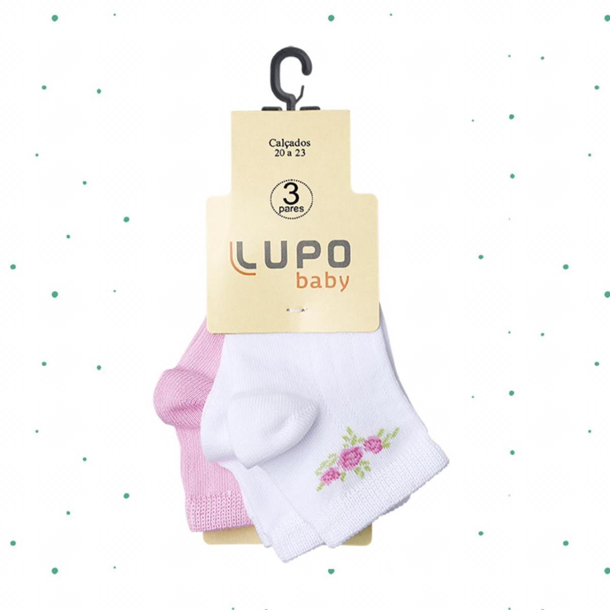 Kit Infantil 3 Pares de Meias Lupo Baby