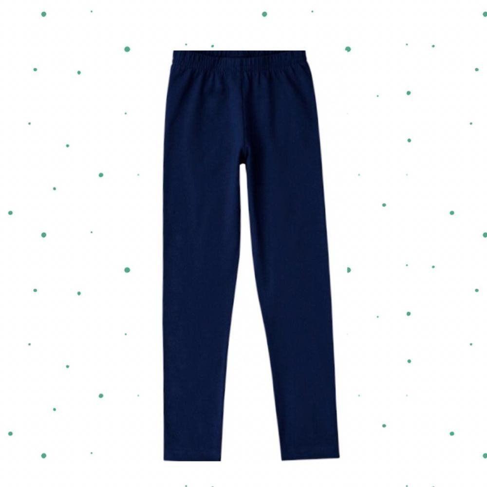 Legging Kyly em Cotton na cor Azul Marinho