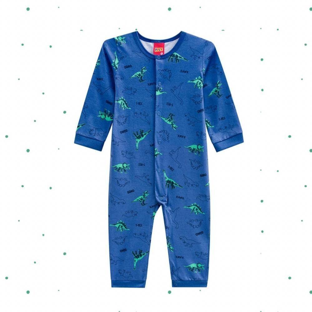 Macacão Pijama Bebê Menino Kyly em Algodão Estampado