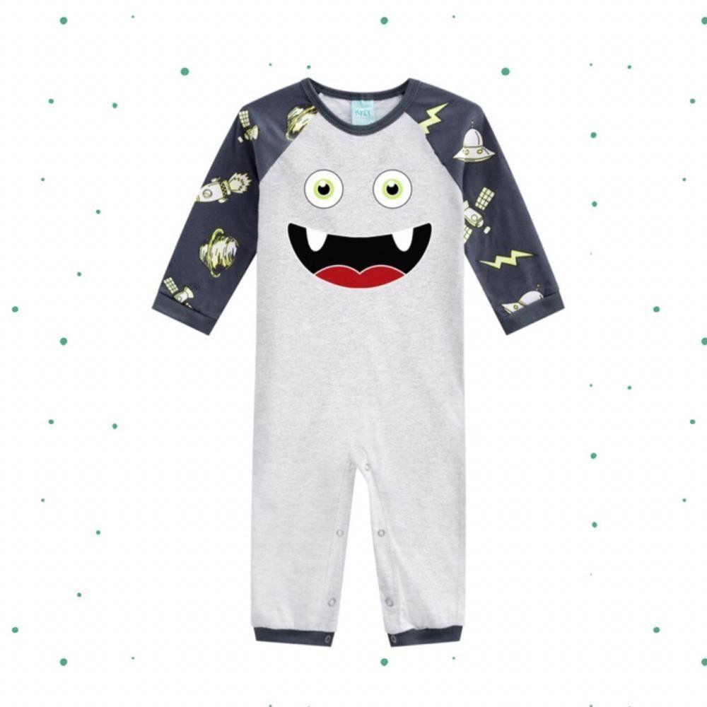 Macacão Pijama Bebê Menino Kyly que Brilha no Escuro