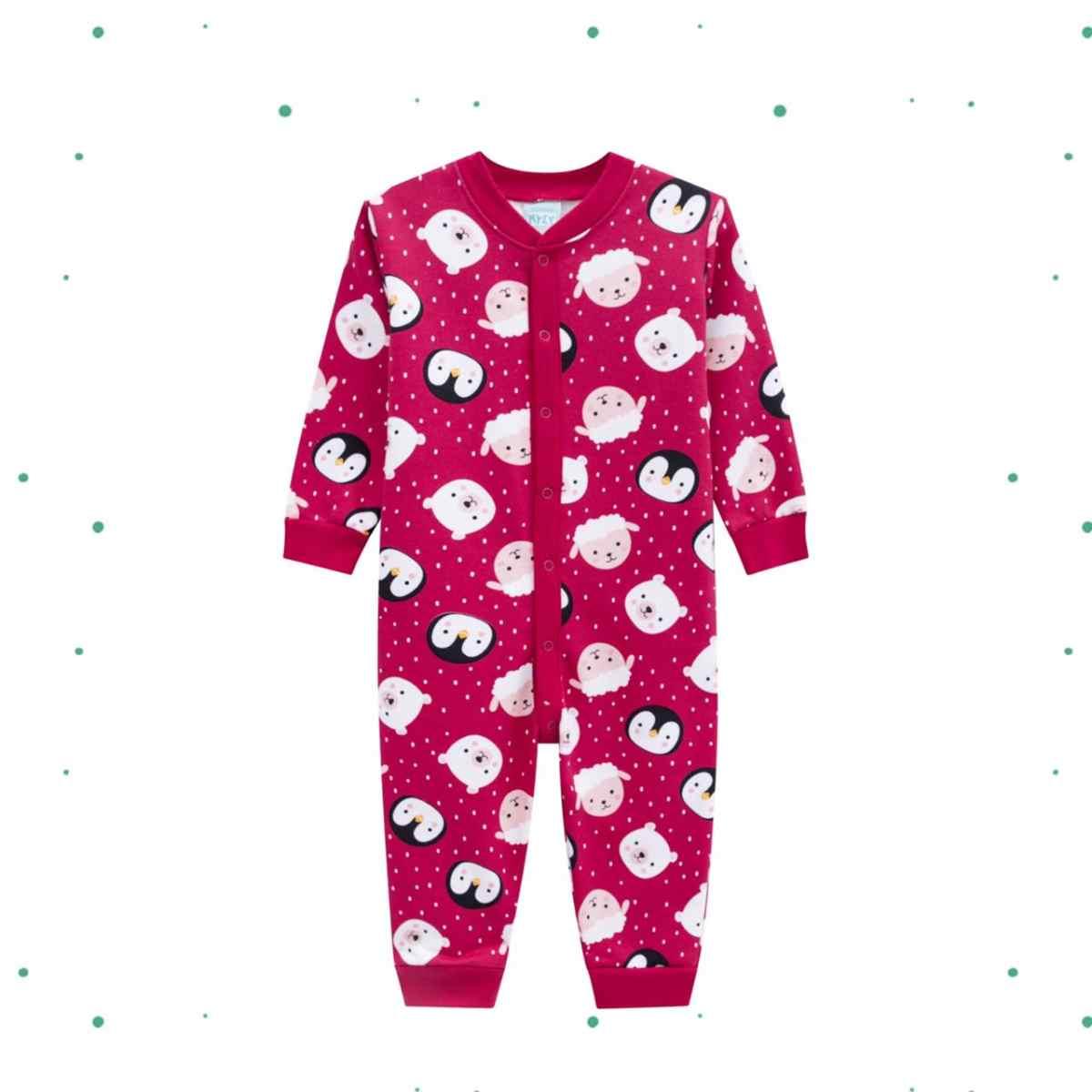Macacão Pijama Menina Kyly em Moletom Peluciado