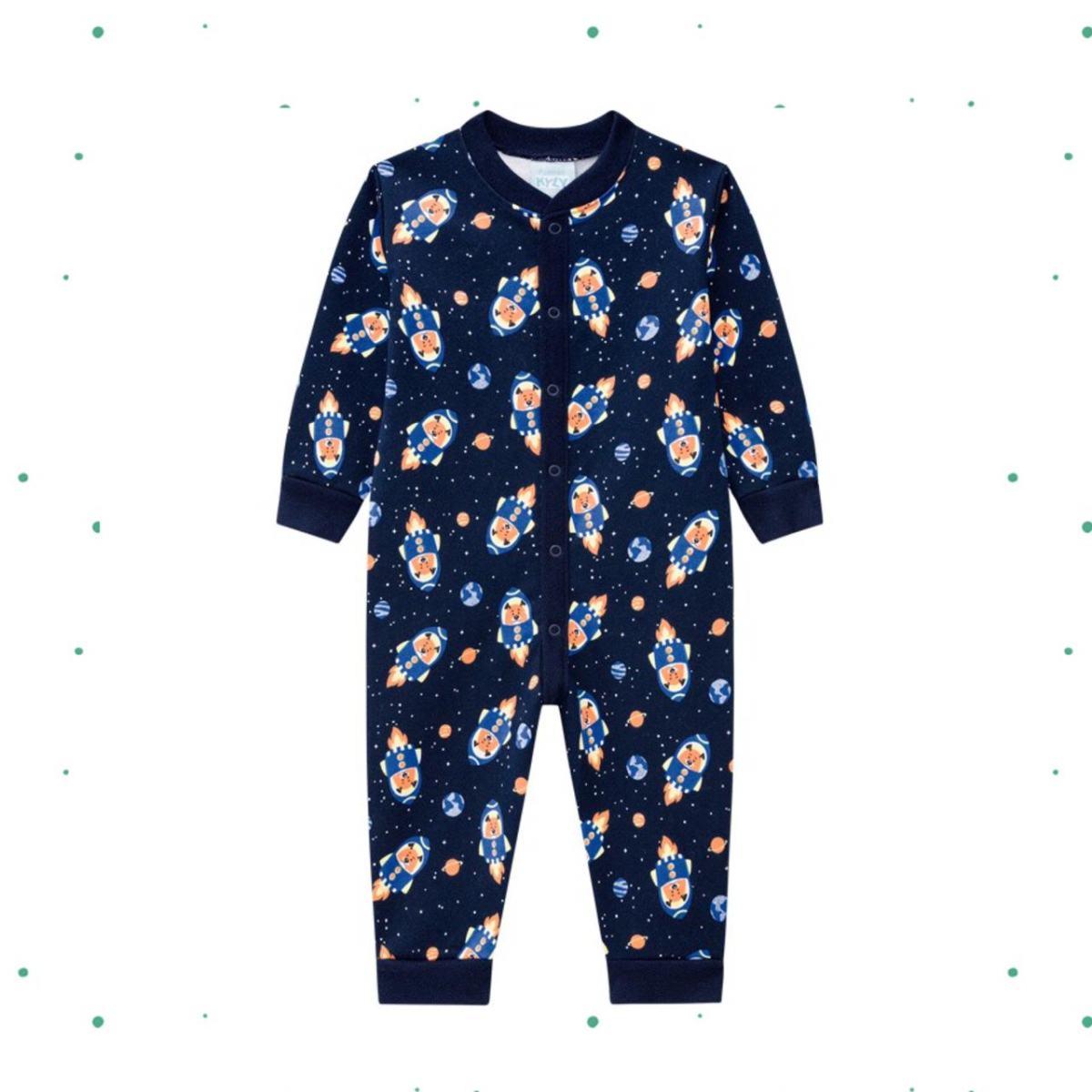 Macacão Pijama Menino Kyly em Algodão Estampado-207543-6826