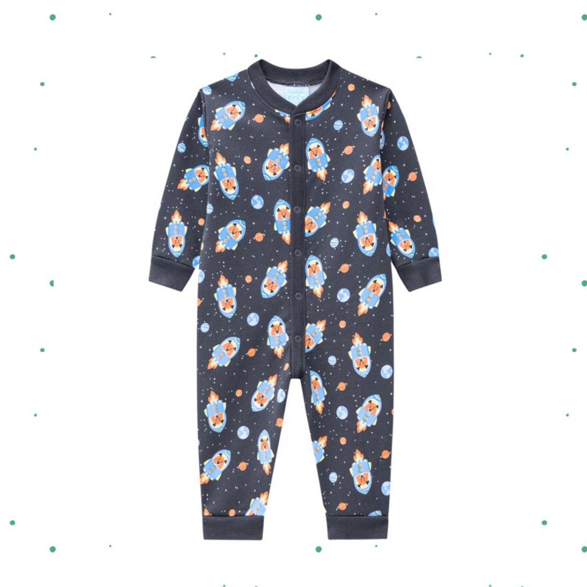 Macacão Pijama Menino Kyly em Algodão Estampado