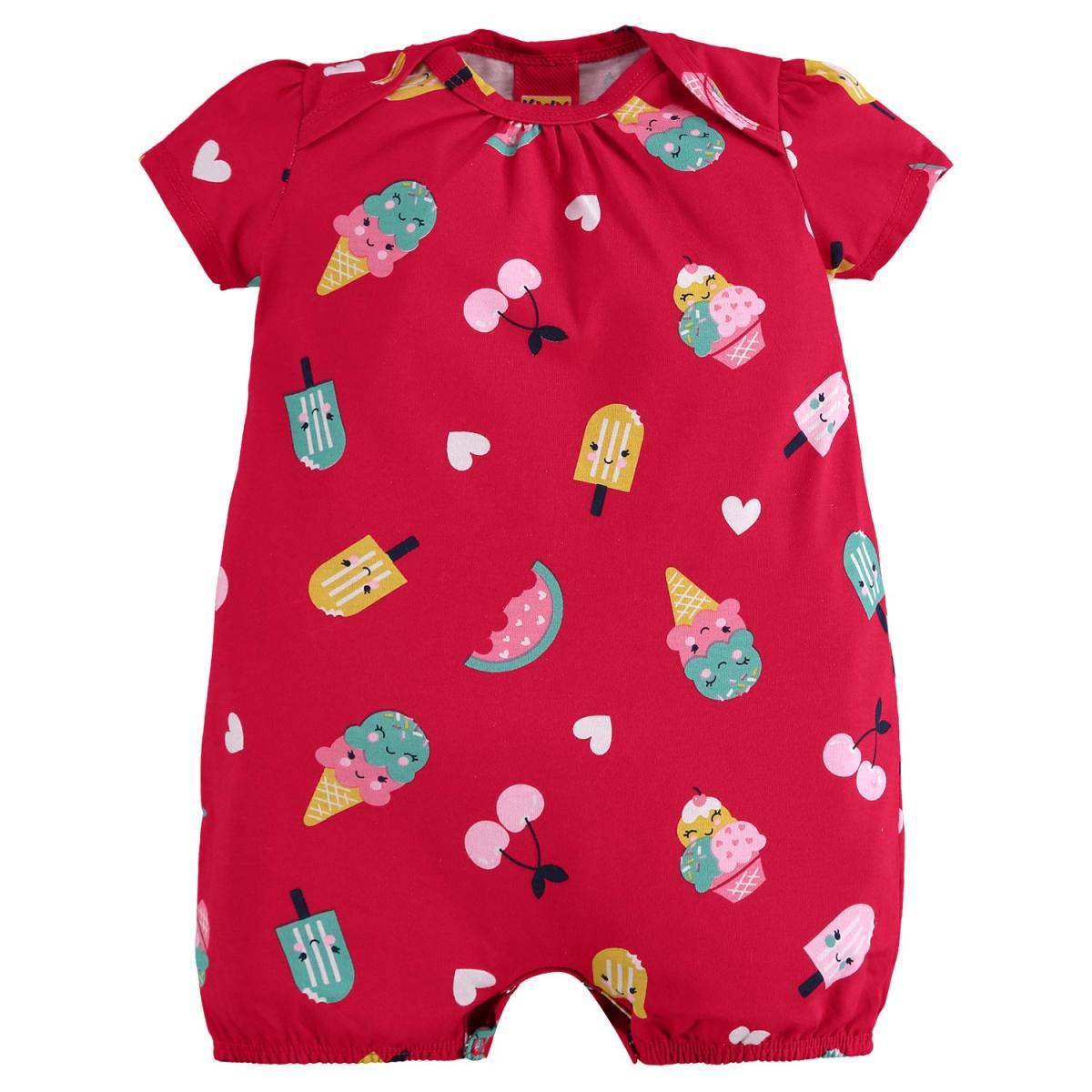 Macaquinho Bebê Menina Kyly em Algodão