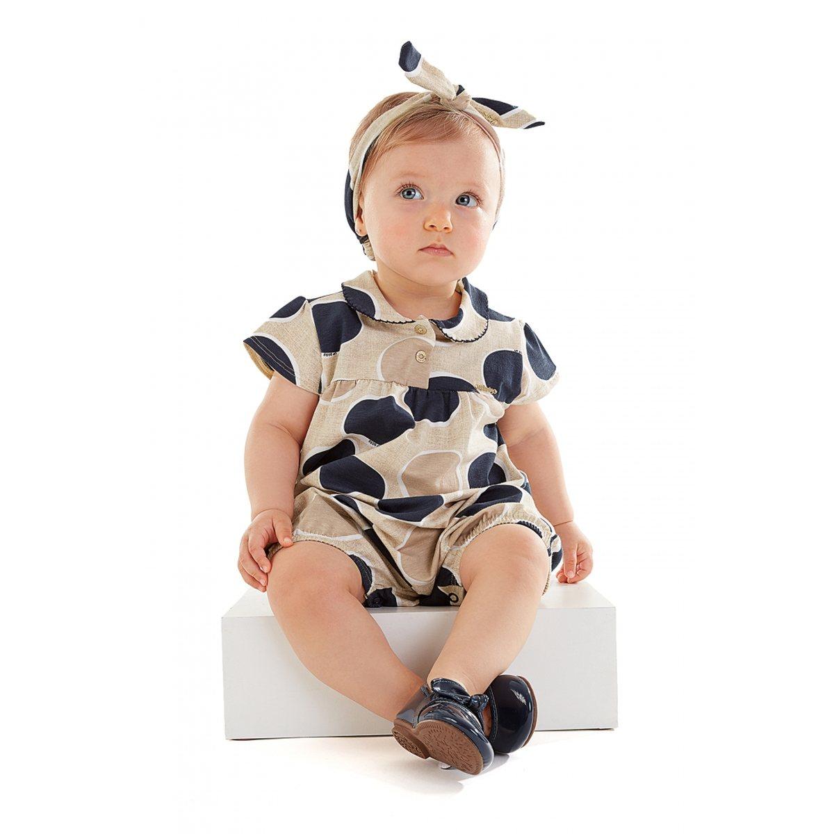 Macaquinho Bebê Up Baby Em Cotton