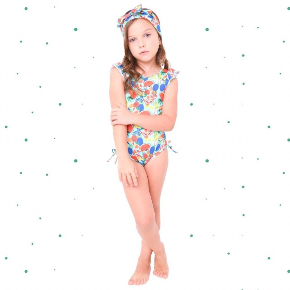 Maiô Magah Beach Wear Laurinha Frutas
