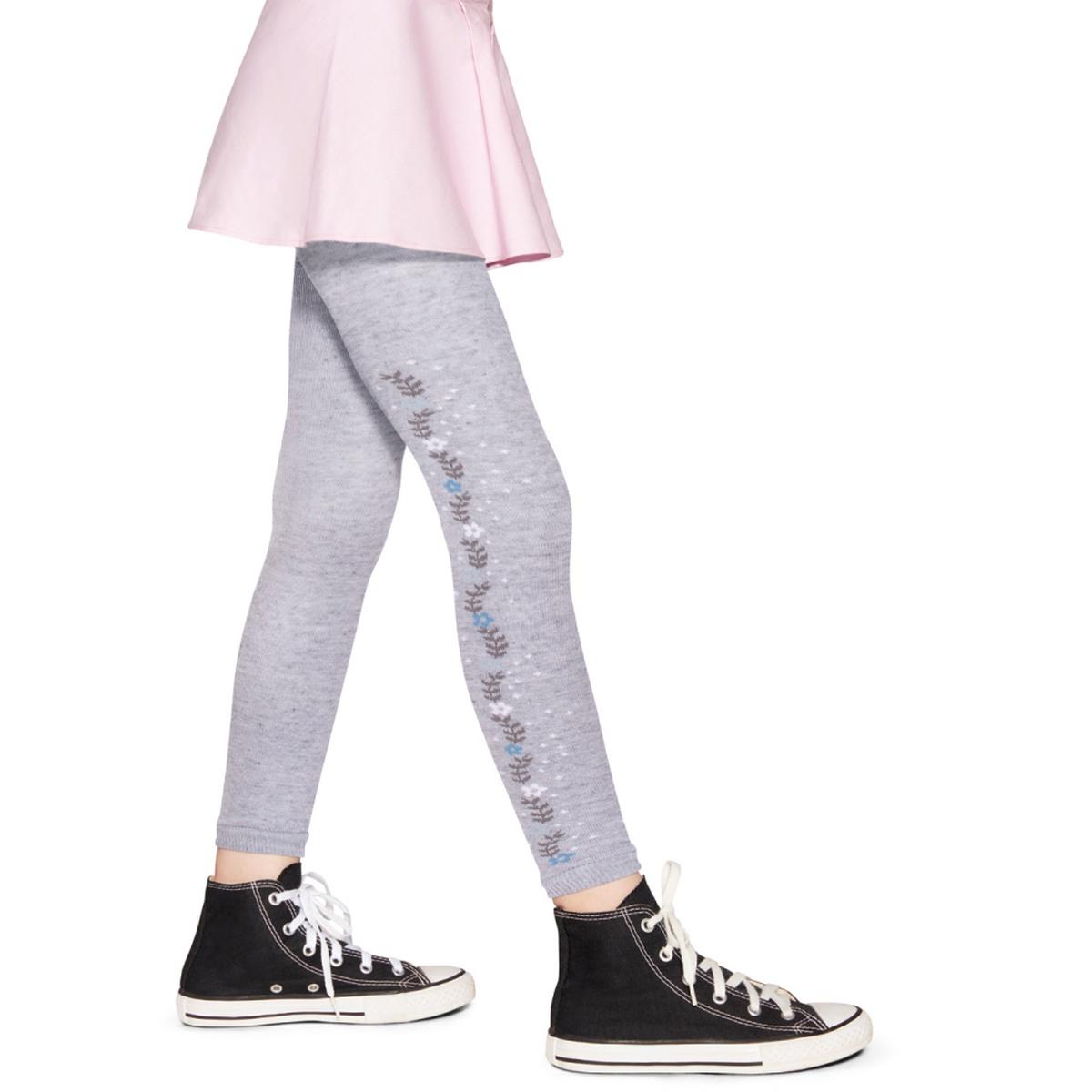 Meia Calça Legging Decorada - Mescla