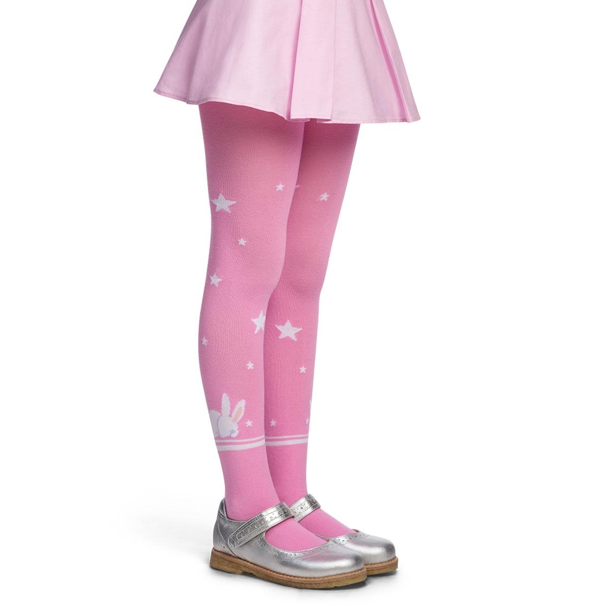 Meia Calça Lobinha Decorada - Rosa