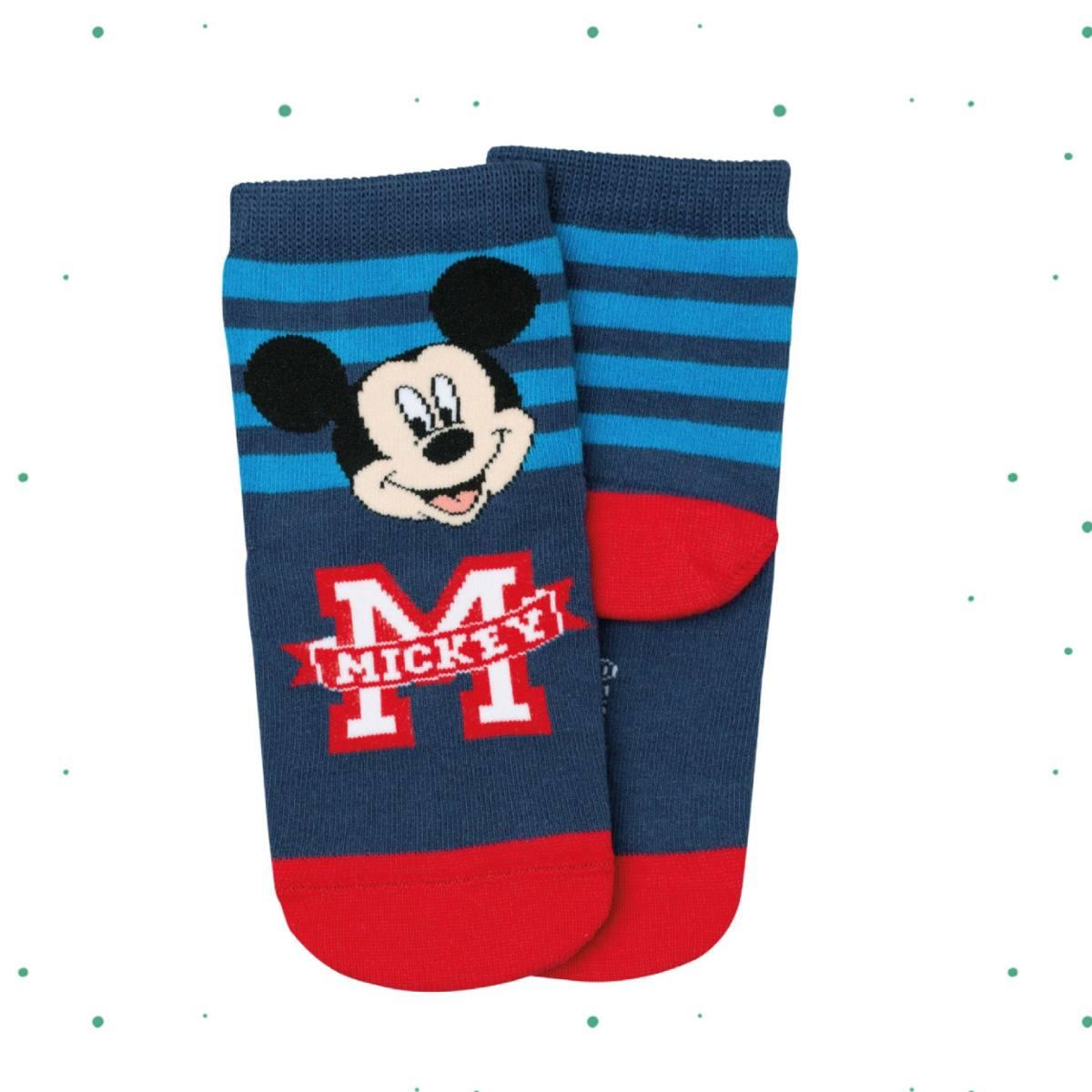 Meia Infantil Lupo Disney Estampa Mickey Azul