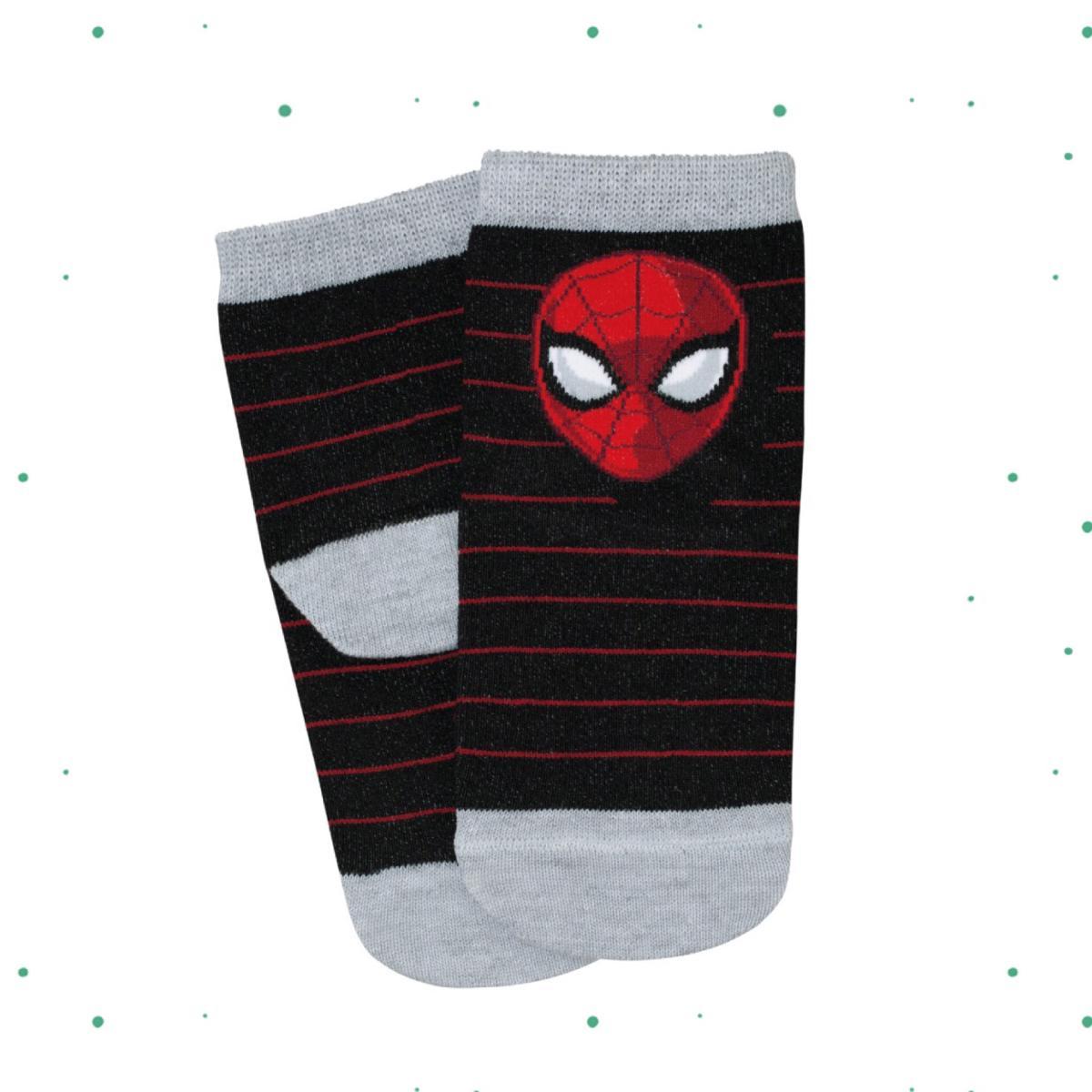 Meia Infantil Lupo Disney Spider Man cor Preta