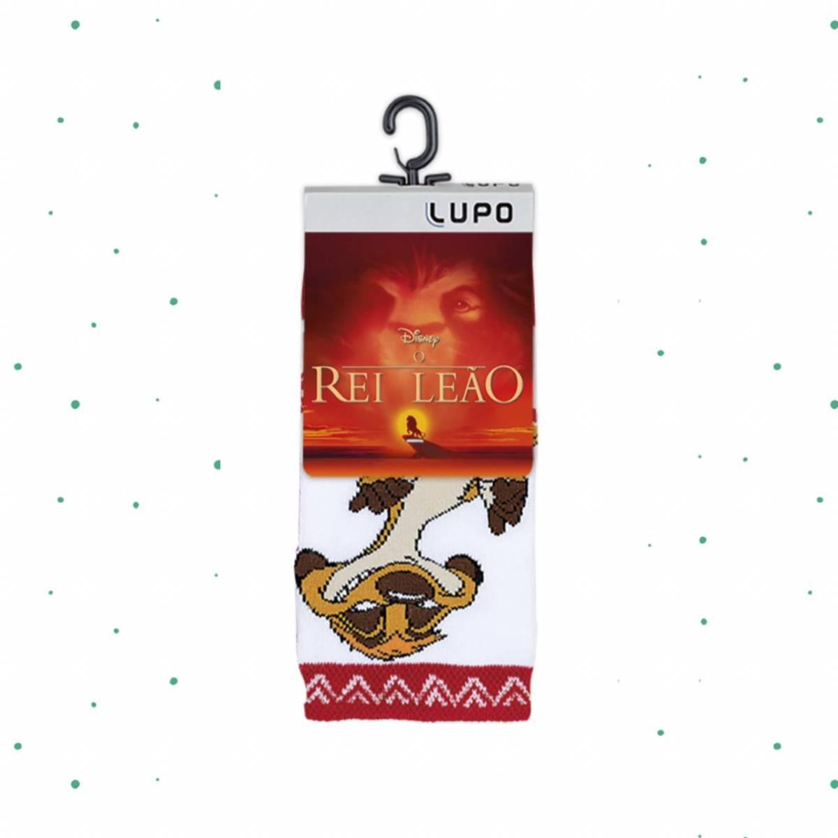Meia Lupo Kids Cano Médio Disney Rei Leão Timão